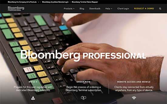 سایت www.bloomberg.com/professional