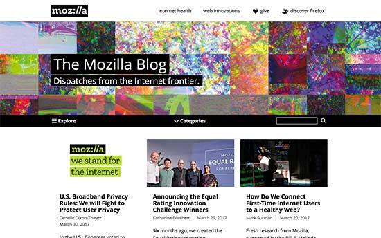 سایت blog.mozilla.org