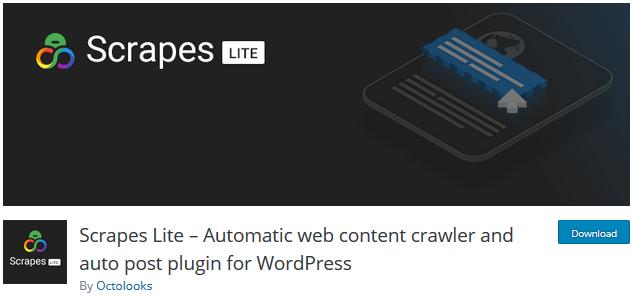 Scrapes Lite افزونه وردپرس کپی خودکار مطالب