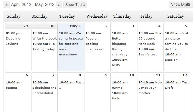 مدیریت جامع نوشته های زمان بندی شده با Editorial Calendar