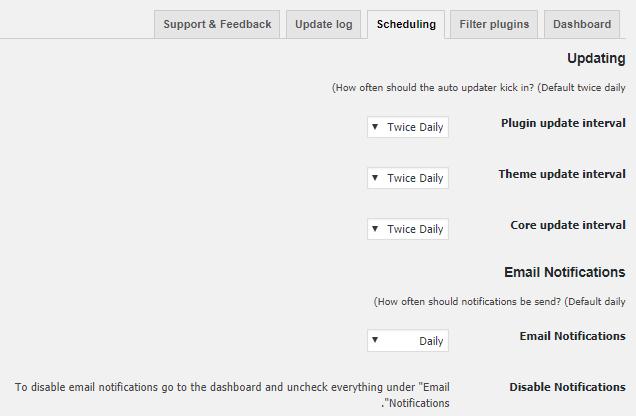 تنظیمات زمان بندی Companion Auto Update