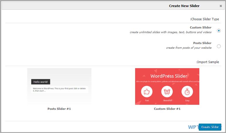 ساخت اولین اسلایدر در MotoPress Slider