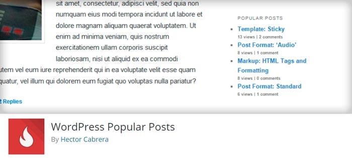 نمایش پست های محبوب با WordPress Popular Posts