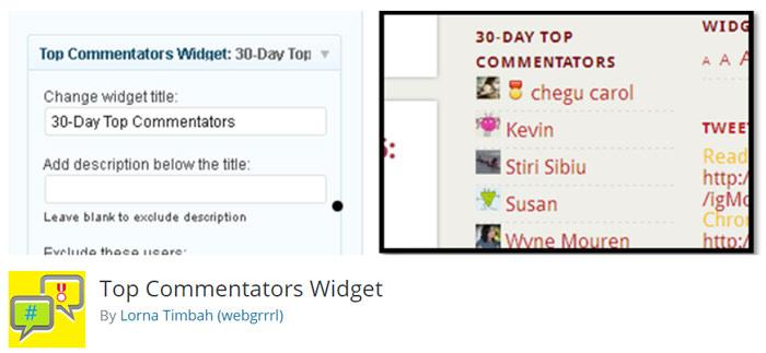 نمایش کاربران فعال از نظر تعداد دیدگاه با Top Commentators Widget