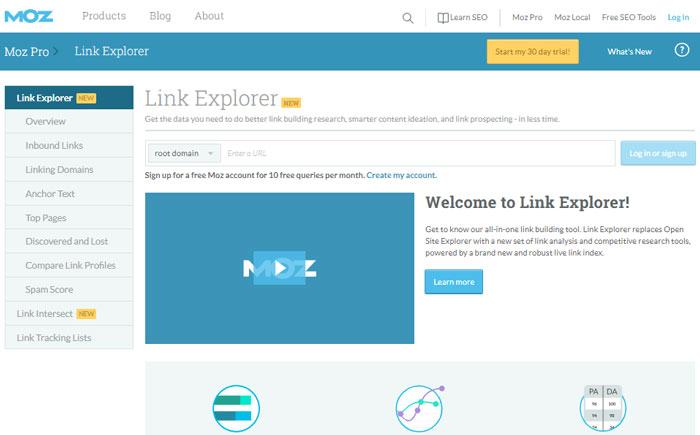 آموزش بررسی آتوریتی سایت با Link Explorer