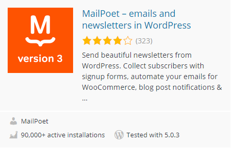 افزونه MailPoet – emails and newsletters in WordPress
