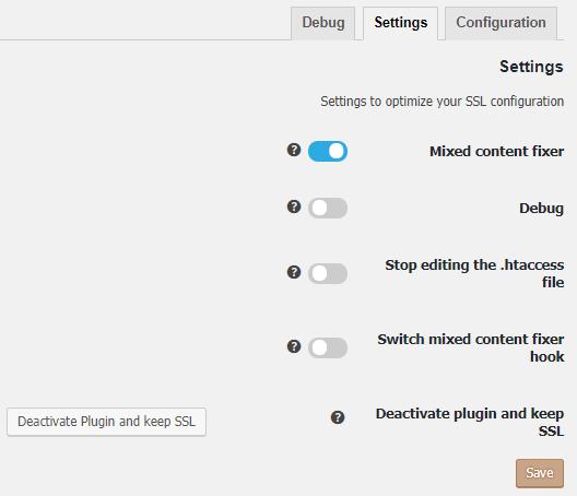 تنظیمات Really Simple SSL