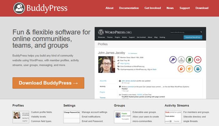سایت رسمی BuddyPress