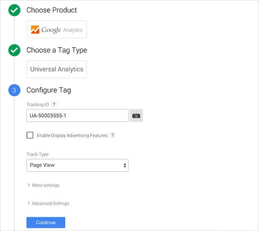 وارد کردن Tracking ID در GTM