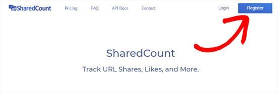ثبت نام در سایت SharedCount