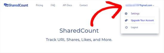 ورود به سایت SharedCount