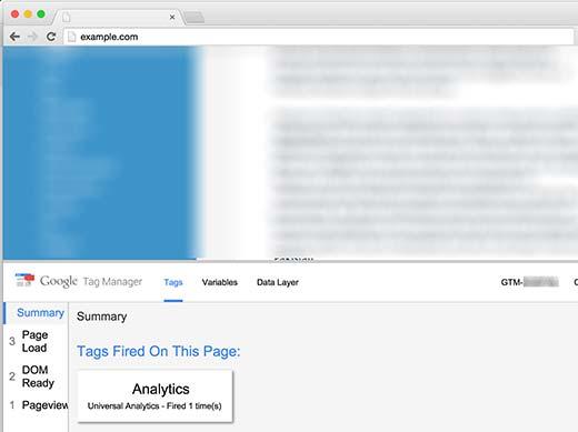 بررسی کد با افزونه Tag Manger در Google Chrome