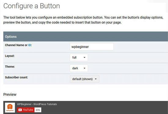 تنظیمات کد دکمهی دنبال کردن در یوتیوب