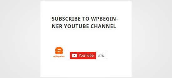 نمایش دکمه دنبال کردن کانال یوتیوب