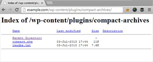 غیرفعال کردن Directory Browsing
