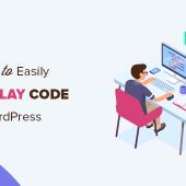 نمایش کد در نوشته های وردپرس