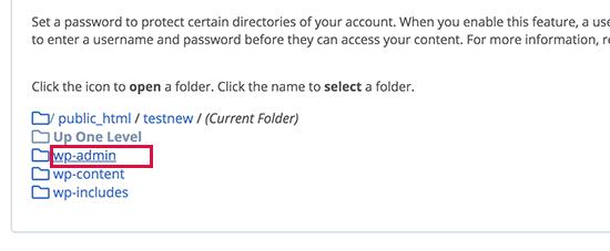 گذاشتن رمز روی پوشه wp-admin