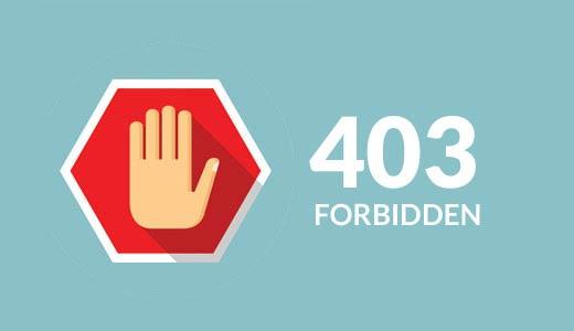 رفع خطای 403 Forbidden در وردپرس