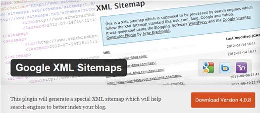 افزونه نقشه سایت Google XML Sitemaps