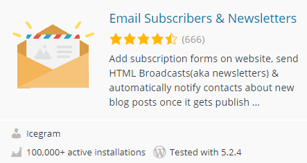 افزونه Email Subscribers & Newsletters