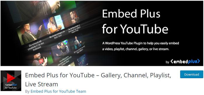 افزونه Embed Plus for YouTube