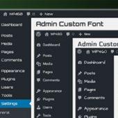افزونه تغییر فونت پیشخوان وردپرس Admin Custom Font