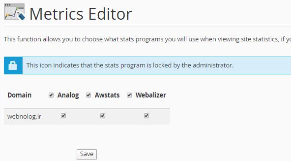Metrics Editor