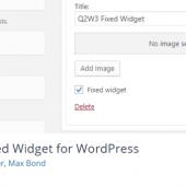 افزونه سایدبار چسبان Fixed Widget for WordPress