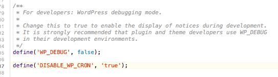 افزودن کد به wp-config.php