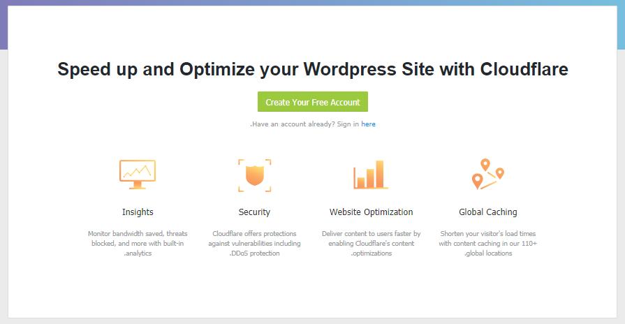 فعال کردن افزونهٔ Cloudflare