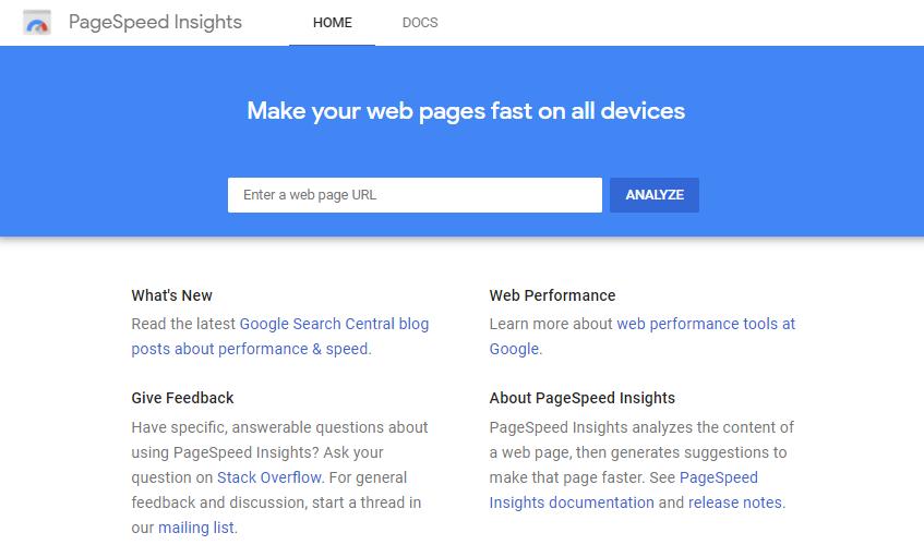 تست سرعت سایت با گوگل